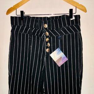 Indigo Rein Jeans - High Waist Striped Jeans